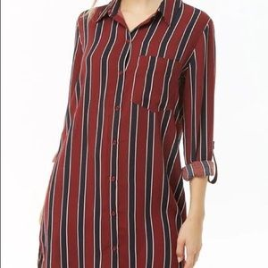Striped work mini dress
